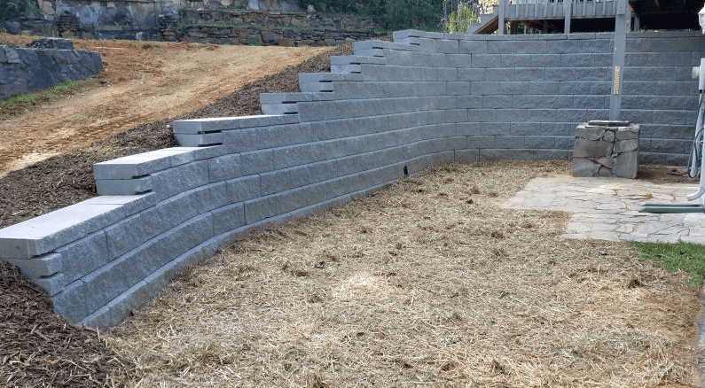 retaining wall for web