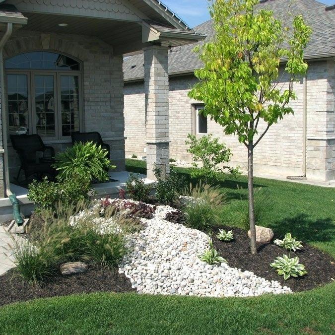 Green Tree Columbus low maintenance rock landscaping